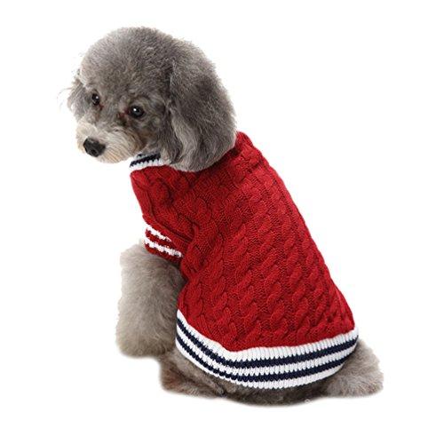 LvRao Welpe Hund Katze Strickpullover Sweater Niedlich