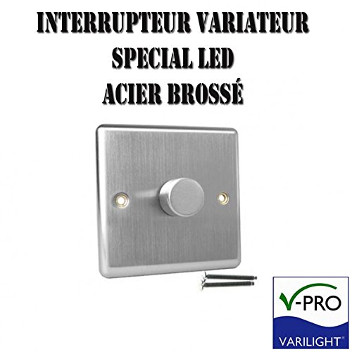 varilight-classic-v-pro-brushed-steel-1-gang-led-trailing-edge-dimmer-switch-1-or-2-way