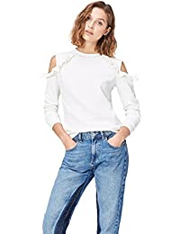 FIND Women's Cold Shoulder Ruffle Sweatshirt