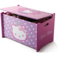 Preisvergleich für Hello Kitty Toy Box Spielzeugkiste Holz Truhe für Spielzeug Aufbewahrungsbox Kinderzimmer NEU