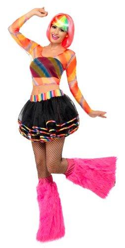 Smiffys Raverkostüm Kostüm Raver für Damen Set Raverin -
