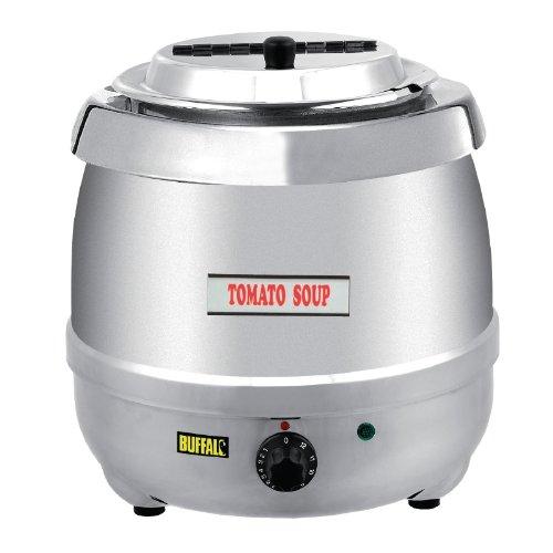 4168JDVNTOL. SS500  - Buffalo Stainless Steel Soup Kettle 10L Commercial Electric Jug 360X345mm