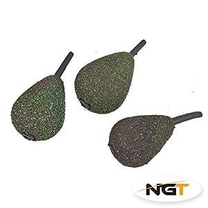 x 3 inline carp fishing weights 2.0oz two tone carp/coarse fishing by ngt