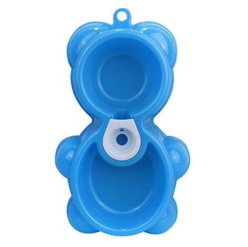 hosaire Hund Schalen mit ausschüttsicher Kunststoff Tablett Schalen mit Knochen Form rutschfester Matte Hund Katze Lebensmittel Wasser Schüssel, für kleine Hunde verschiedenen Farben (Hund Wasser Schüssel-matte)