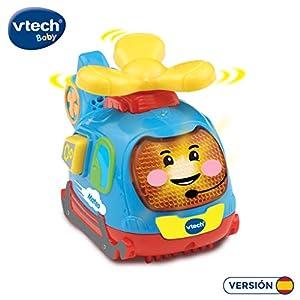 VTech- Mateo el helicóptero TutTut Bólidos Vehículo Interactivo con Voz, música y Efectos de Sonido, Incluye botón Sorpresa, Multicolor (80-516822)