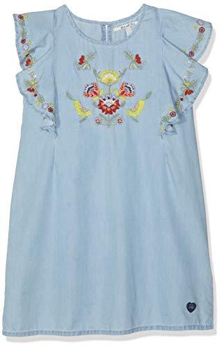 Pepe Jeans Mädchen Jayla Kleid, Blau (Blue 551), 9-10 Jahre (Herstellergröße: 10) (Mädchen-blaue Jeans-kleid)
