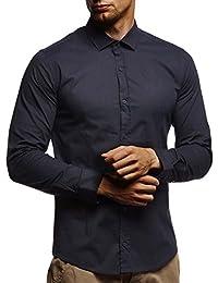 2073915c5793 LEIF NELSON Herren Hemd Slim Fit Langarm Bügelleicht modernes Langarmhemd  Businesshemd Freizeithemd für Anzug Business Hochzeit…