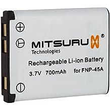 Batteria Mitsuru® per Fuji Fujifilm NP45 NP-45 NP-45A NP-45B Medio NP-45 , e Fuji Fujifilm Finepix JX205 JX250 JX280 JX300 JX350 JX355 JX370 JX375 JX400 JX405