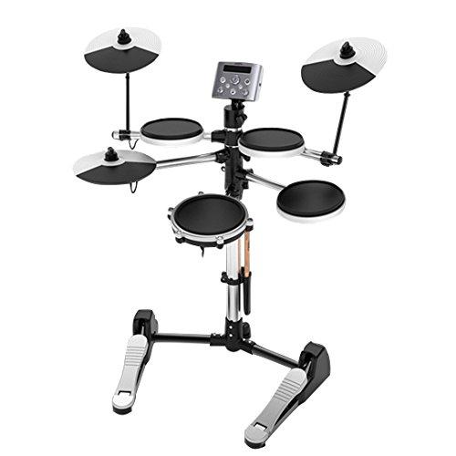 E-Drums SET mit Hocker und Kopfhörer, AKAUFENG Elektronisches Schlagzeug