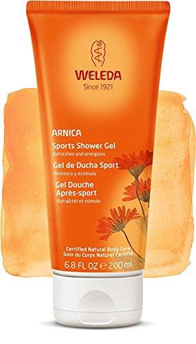 Duschgel Sport mit Arnika, erfrischend, ideal nach dem Training–Weleda 200ml (Liebe-gel-massage)