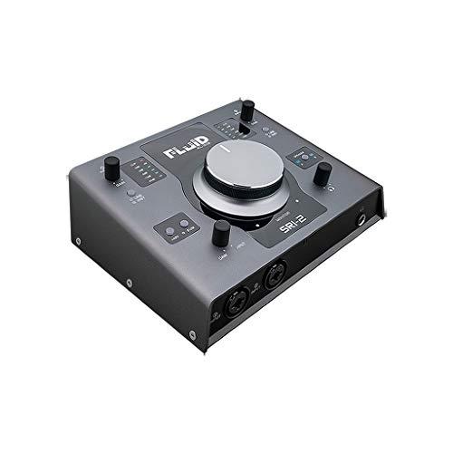 Fluid Audio Sri 22X 2da 24Bit/192KHz USB Audio Interface & Monitor Controller con alimentazione phantom + 48V, Cubase Le Argento Grigio