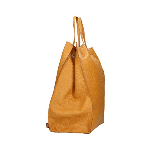 Chicca Borse Borsa a tracolla in pelle 46x34x16 100% Genuine Leather Cuoio