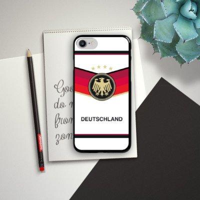 Apple iPhone X Silikon Hülle Case Schutzhülle fussball fußball deutschland Hard Case schwarz