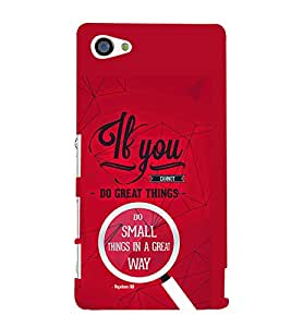 TOUCHNER (TN) If You Back Case Cover for Sony Xperia Z5 Compact::Sony Xperia Z5 Mini