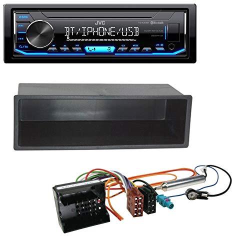 caraudio24 JVC KD-X351BT AUX USB Bluetooth MP3 Autoradio für Citroen Berlingo, C2, C3, Jumpy -