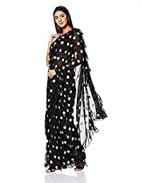 Rina Dhaka Women's Chiffon Without Blouse Piece Saree