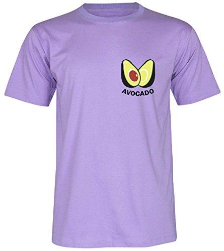 PALLAS Unisex's Avocado Funny Classic T-Shirt Purple