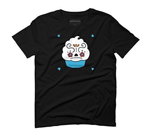Dio De Los Cupcake Men's Graphic T-Shirt - Design By Humans Black