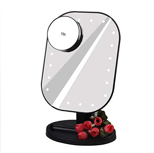 Make Up Mirror Einstellbare 20 LEDs beleuchtet Schminkspiegel Touchscreen tragbare Vergrößerungs Eitelkeit Tischlampe Kosmetikspiegel Bilden -
