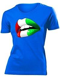 WM - EM - Italy Kuss Mund - FANSHIRT Femme Small - XX-Large - Deluxe