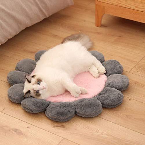 Haustier Matte Puppy Dog Soft Kennel Pet Mat Neue Hundehütte Winter?Warme Matte Blume kleiner Haustier Teddy Cat Sleeping Nest (Color : Pink, Size : M) -