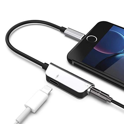 DAEETO Adaptador Conector Auriculares 2 1 3.5 mm Auriculares