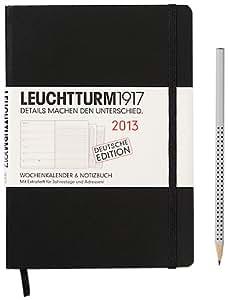 Leuchtturm1917 341676 Wochenkalender 2013 und Notizbuch Medium (A5), Deutsch, schwarz