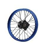 HMParts Alu Felge eloxiert 14 Zoll vorne blau 12 mm Typ2 Pit Bike Dirt Bike Cross