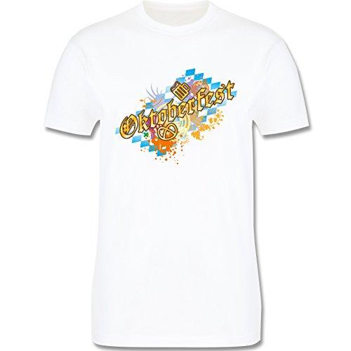 Oktoberfest Herren - Oktoberfest bunt - Herren Premium T-Shirt Weiß
