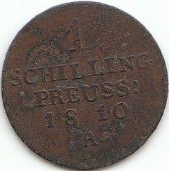 Königreich Preußen für Ost- und Westpreußen KM-Nr: 45 1810 A sehr schön 1 Schilling Friedrich Wilhelm III. (Münzen für Sammler)