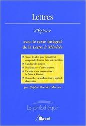 Lettres d'Epicure avec le texte intégral de la Lettre à Ménécée