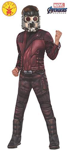 Rubie's Offizielles Avengers Star Lord, Deluxe Kinderkostüm, Größe L, Alter 8-10, Höhe 147 - Deluxe Kinder Star Lord Kostüm