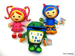Team umizoomi complete lot of 3 plush bot geo milli by - Jeux de umizoomi ...
