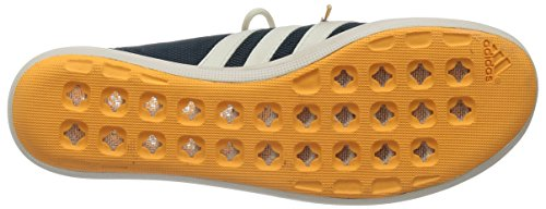 adidas Climacool Boat Sleek, Chaussures de Voile Femme, Mehrfarbig, 4.5 UK Blau (Midnight F15/Chalk White/Solar Gold)