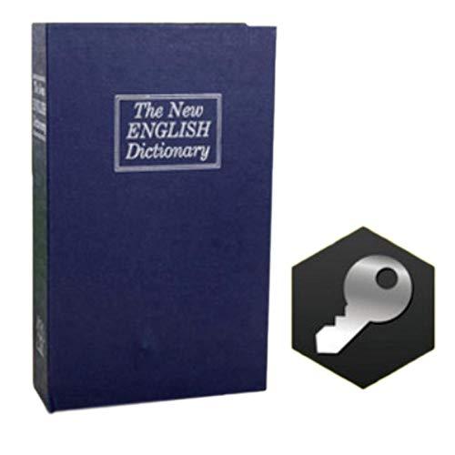 xiaoyamyi Kreative Buch Safe Box Englisch Wörterbuch Safe Depots Box Aufbewahrungsbox für Home Dekoration Key Blue.