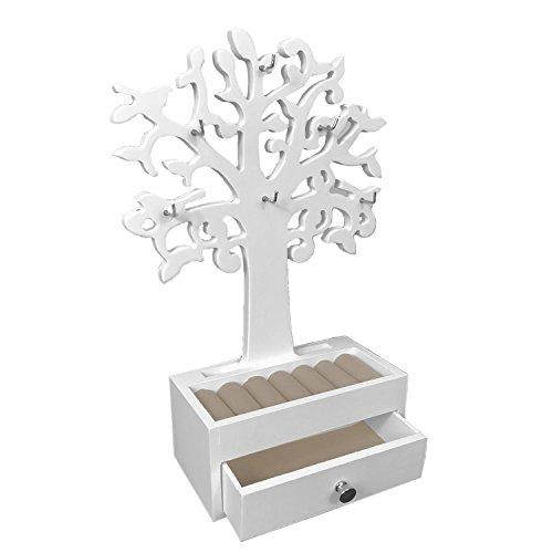 Schmuckbaum H31cm mit Schmuckkasten Ablagen + Schubfach Schmuckständer Schmuckhalter Kettenständer