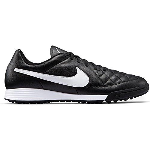 Nike Tiempo Genio Leather TF, Chaussures de Football Homme Noir / Blanc (Noir / Blanc)