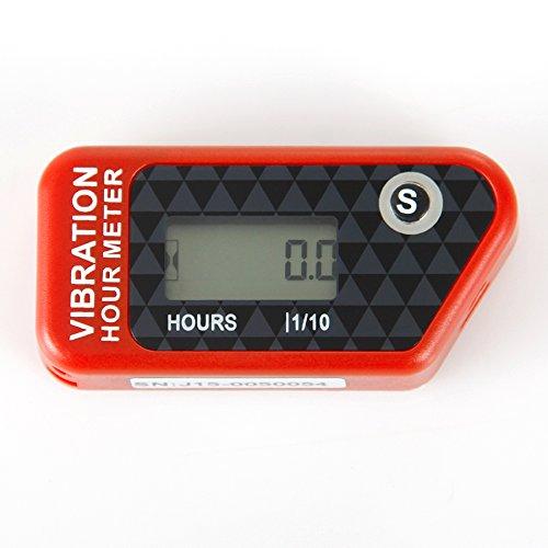 Runleader RL-HM016B rot Vibration Stundenzähler mit Wireless für alle ATV-Benzinmotor UTV dirtbike Motorrad Motorrad-Außenborder Schneemobil pitbike PWC Marine Boot wasserdicht