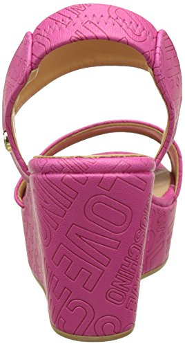 Love Moschino, Sandales Plateforme Femme Rose (Fuchsia)