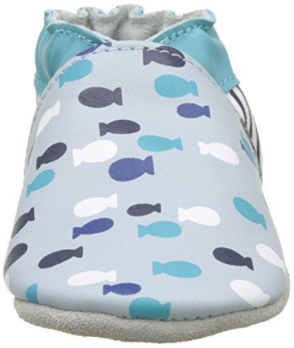 Robeez Baby Jungen Swim with Fish Krabbelschuhe Bleu (Bleu Clair)