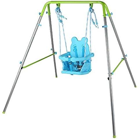 HLC Columpio infantil plegable ajustable para 6-36 meses asiento con diseño de Panda