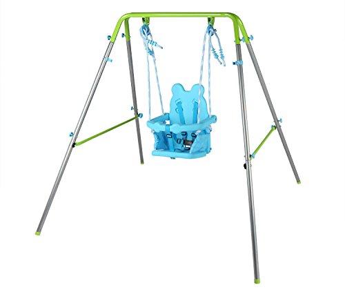 HLC Kinder Zusammenklappbar Schaukel Kinderschaukel Gartenschaukel Schaukelgestell mit Sicherheitssitz 148 * 148 * 120 cm