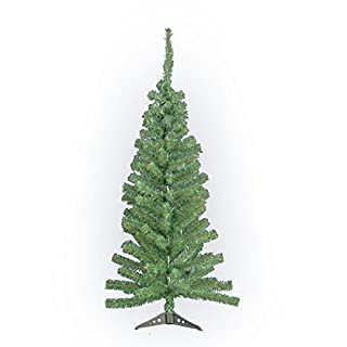 4FT Artificial Green Christmas Tree Indoor Xmas Decoration Easy Fold Branch NEW