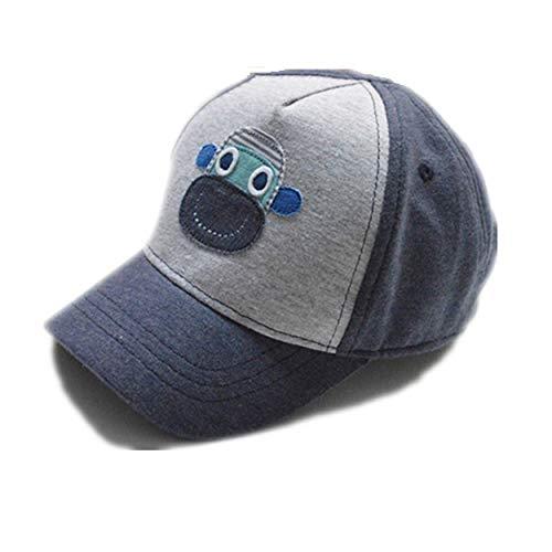 nd Sommer Sonne Hüte verstellbar UV-Schutz Cap Baseball Cap für Kinder Gr. Medium, grau ()