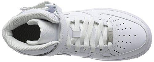 Nike Wmns Air Force 1 Mid '07 Le, sneaker femme Blanc Cassé - Blanco (White / White)