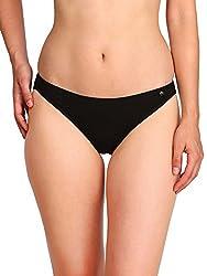 Jockey Womens Cotton Bikini (SS02_Black_XL)