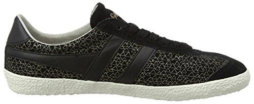 Gola Damen Specialist Geo Sneaker Schwarz (Black/Gold)