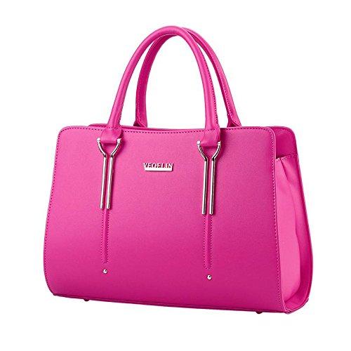 HQYSS Damen-handtaschen Süße Lady Fashion Schulter Messenger Tasche rose red
