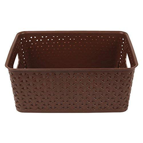 Xllent® Brown Basket (Set of 6) for Multipurpose Use/Fruit & Vegetable Basket/Storage Basket/Makeup Organiser/Container Box, Size in cm {26 + 20+ 11}Office Stationary Storage/Organise