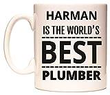 HARMAN IS THE WORLDS BEST PLUMBER Becher von WeDoMugs